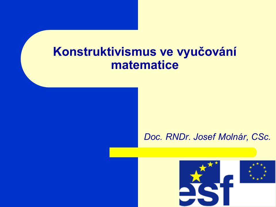 Konstruktivismus ve vyučování matematice