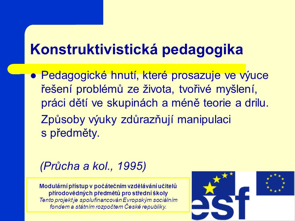 Konstruktivistická pedagogika