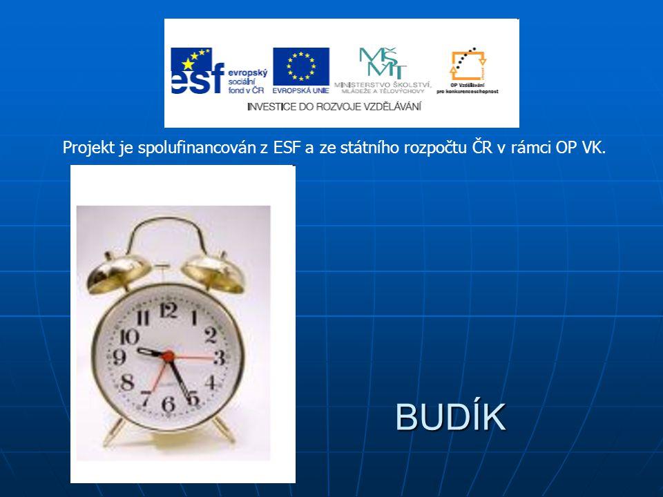 Projekt je spolufinancován z ESF a ze státního rozpočtu ČR v rámci OP VK.