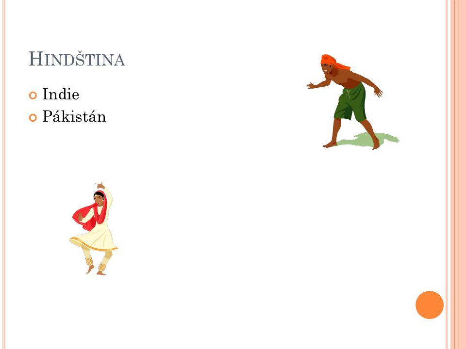 Hindština Indie Pákistán