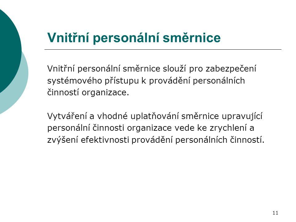 Vnitřní personální směrnice