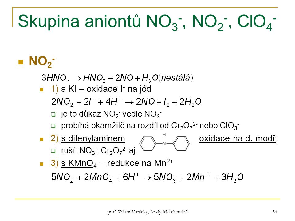 Skupina aniontů NO3-, NO2-, ClO4-
