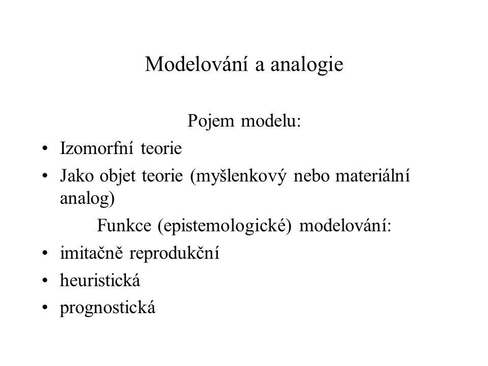 Funkce (epistemologické) modelování: