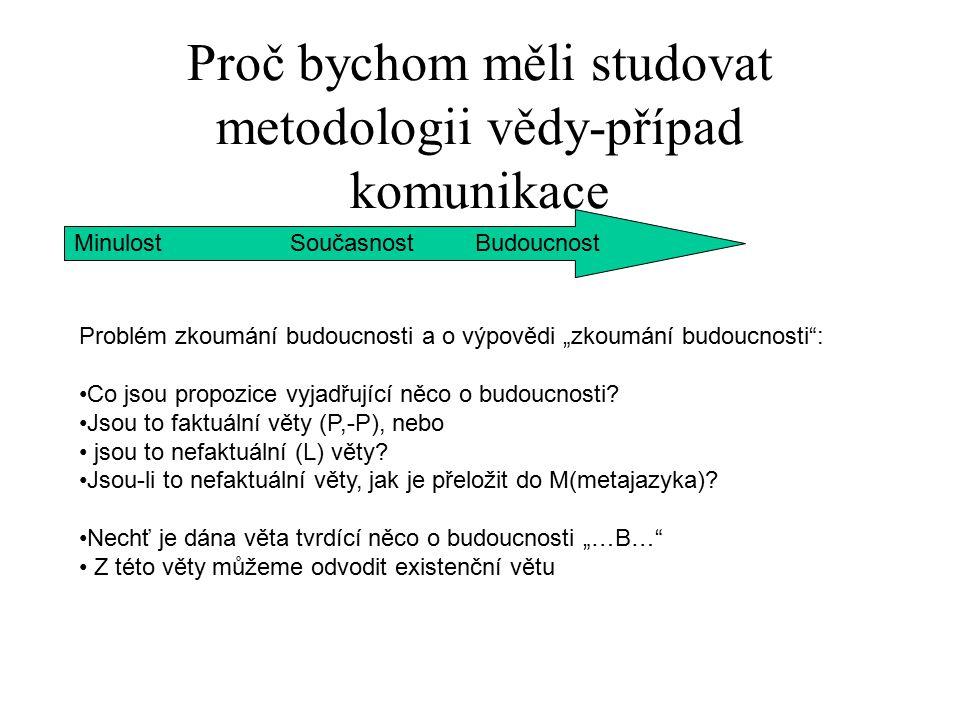 Proč bychom měli studovat metodologii vědy-případ komunikace