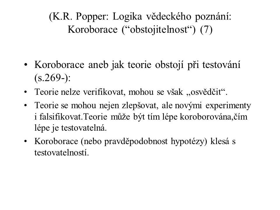 Koroborace aneb jak teorie obstojí při testování (s.269-):