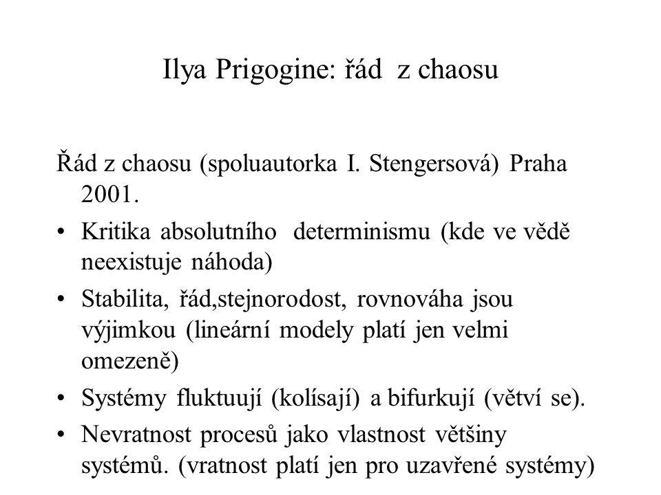 Ilya Prigogine: řád z chaosu