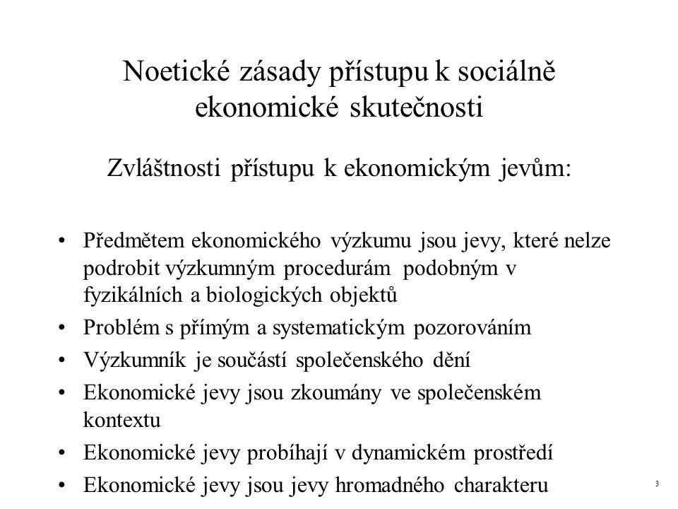 Noetické zásady přístupu k sociálně ekonomické skutečnosti