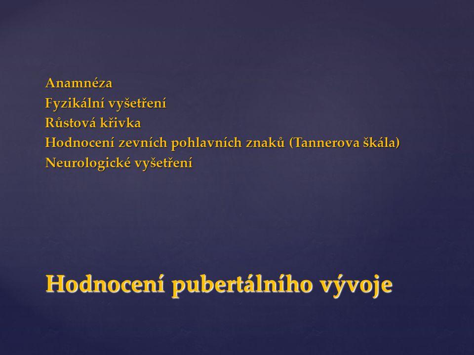 Hodnocení pubertálního vývoje