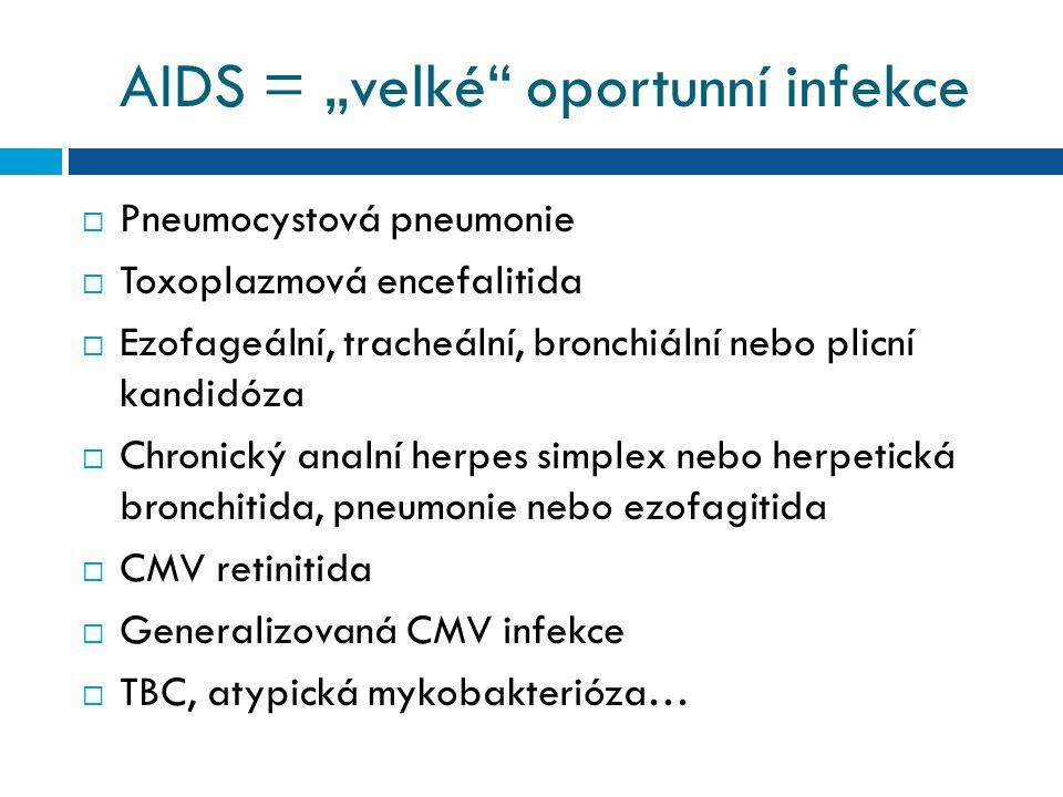 """AIDS = """"velké oportunní infekce"""