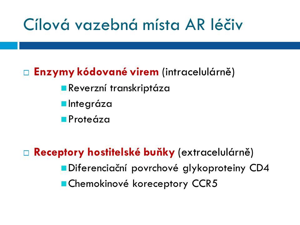 Cílová vazebná místa AR léčiv