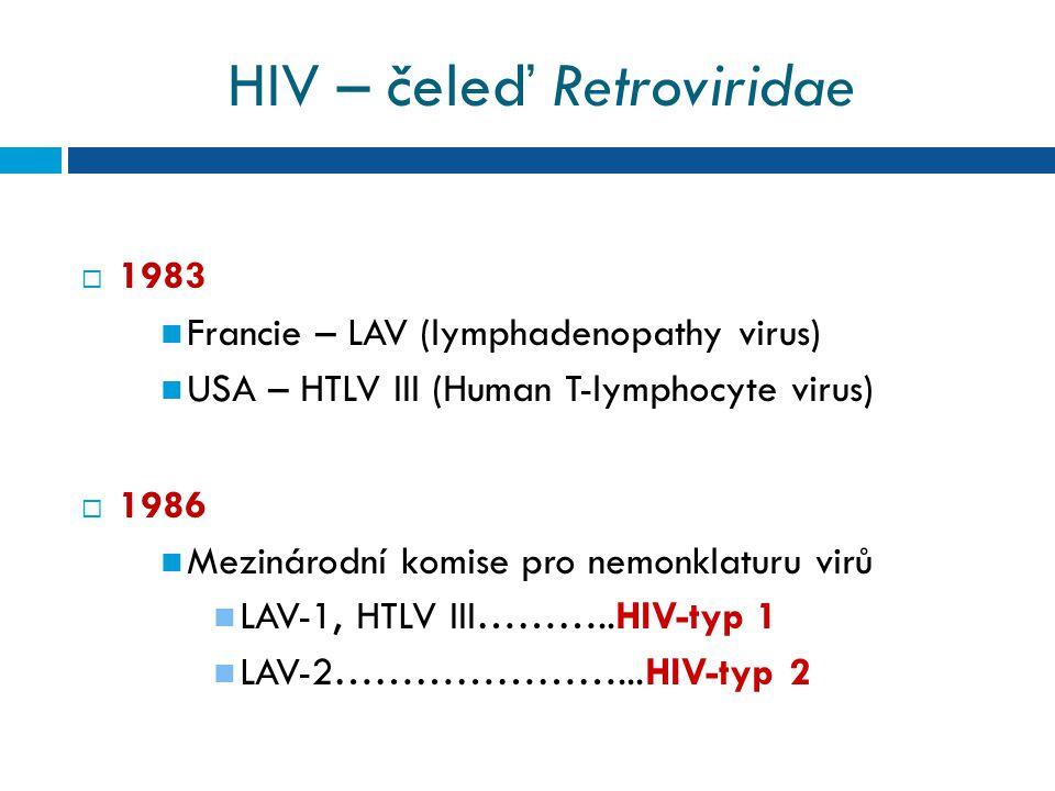 HIV – čeleď Retroviridae