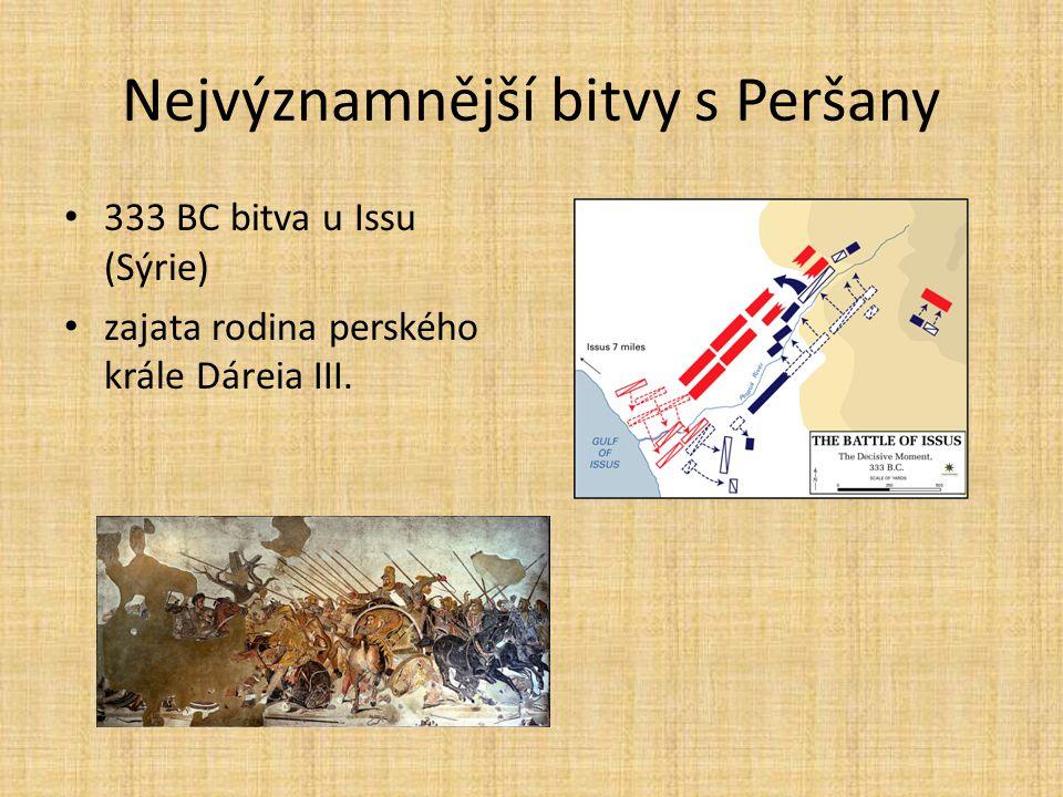 Nejvýznamnější bitvy s Peršany