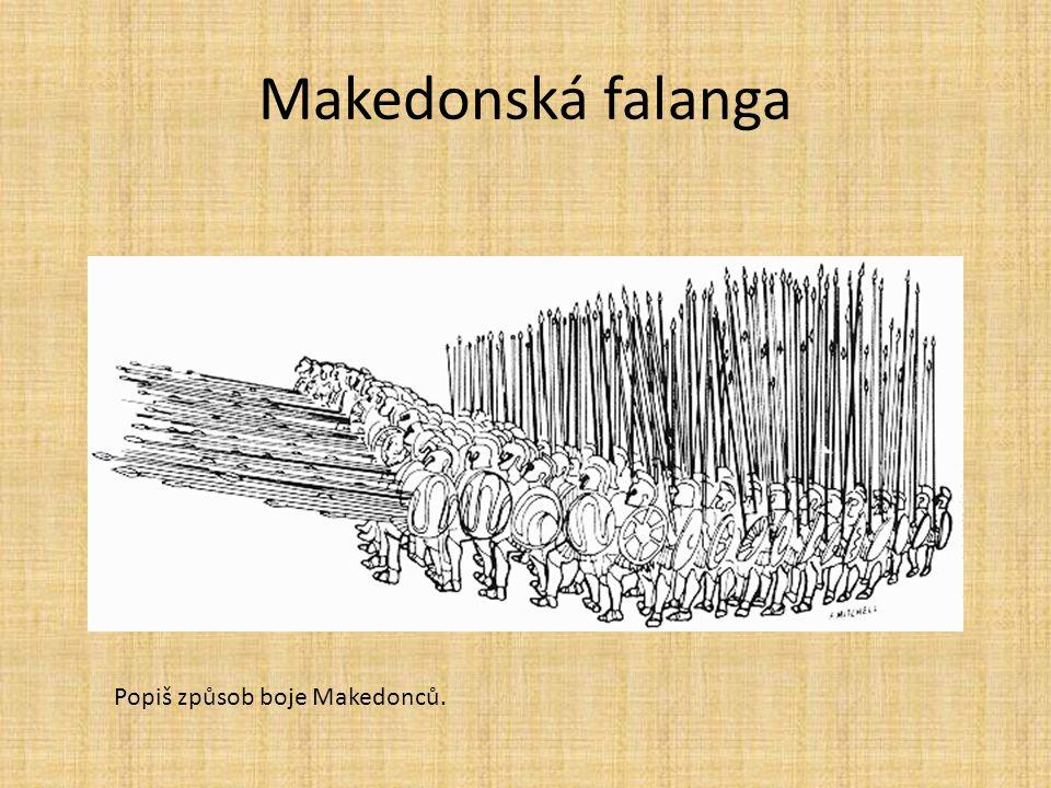 Makedonská falanga Popiš způsob boje Makedonců.
