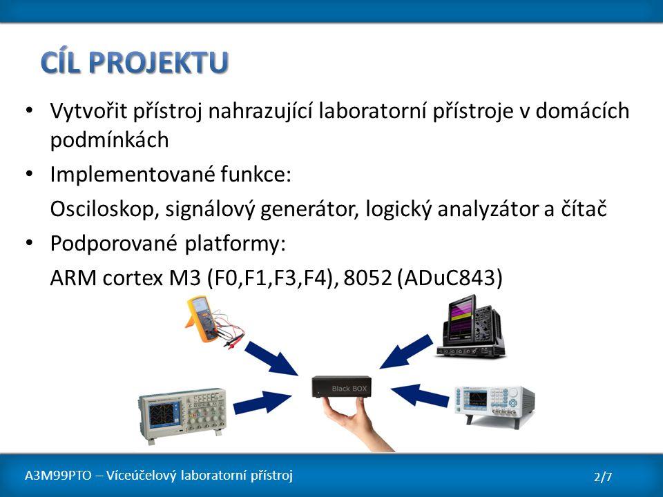 Cíl projektu Vytvořit přístroj nahrazující laboratorní přístroje v domácích podmínkách. Implementované funkce: