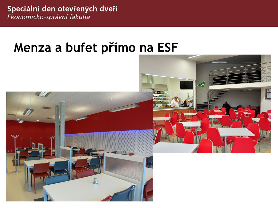 Menza a bufet přímo na ESF