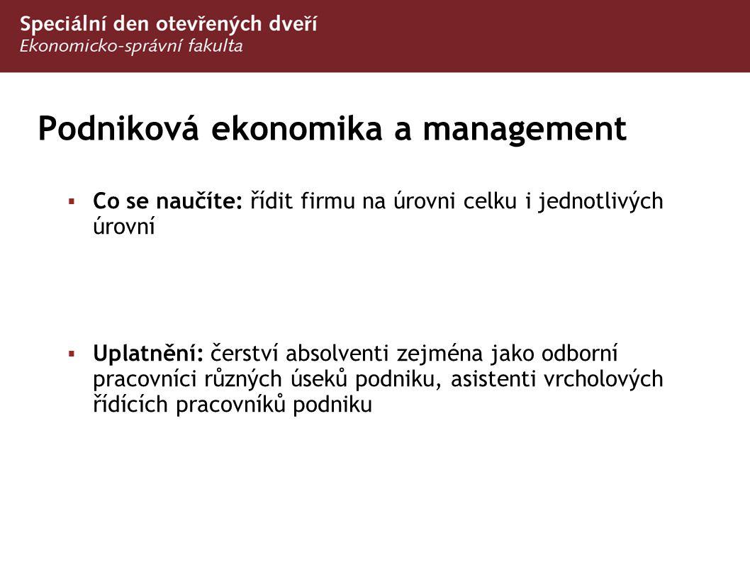 Podniková ekonomika a management