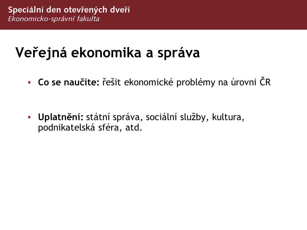 Veřejná ekonomika a správa