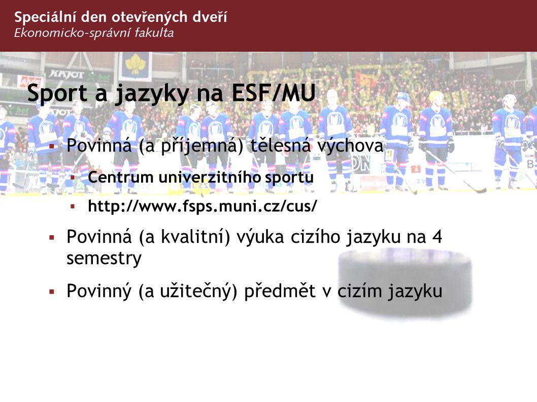 Sport a jazyky na ESF/MU