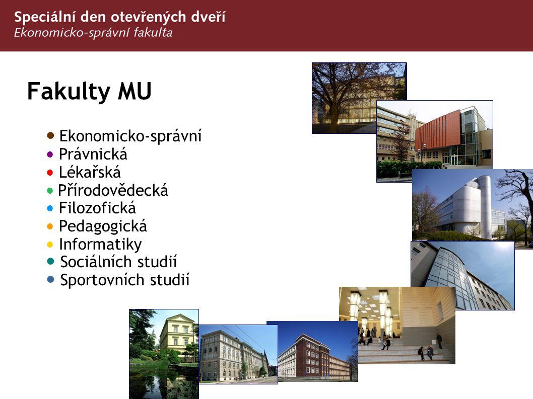 Fakulty MU ● Ekonomicko-správní ● Sociálních studií