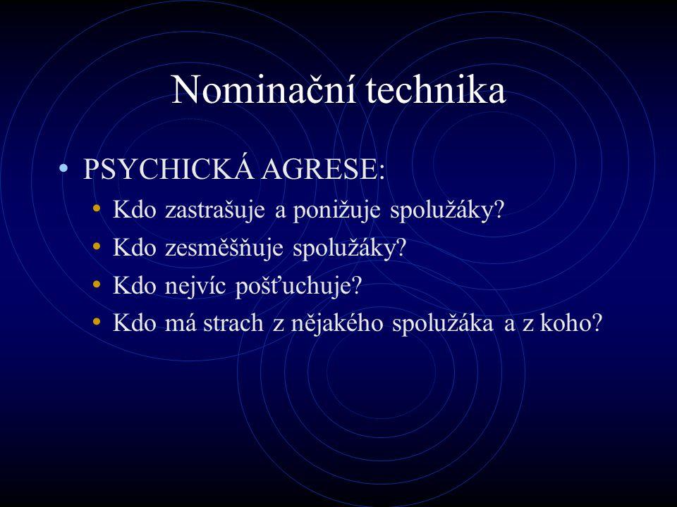 Nominační technika PSYCHICKÁ AGRESE: