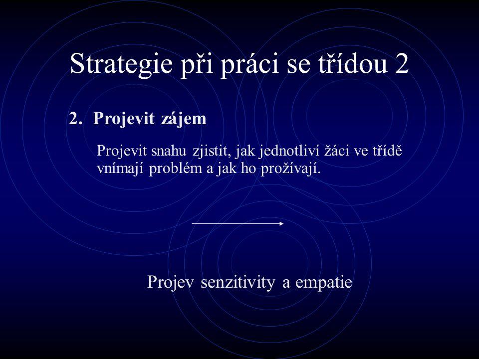 Strategie při práci se třídou 2