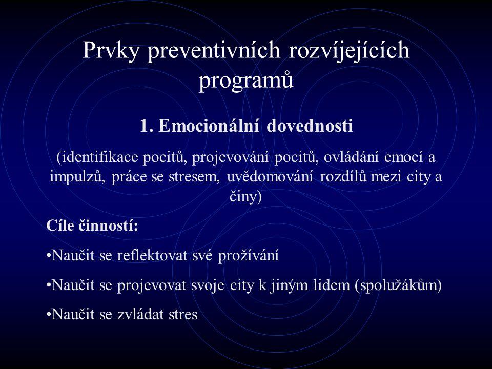Prvky preventivních rozvíjejících programů