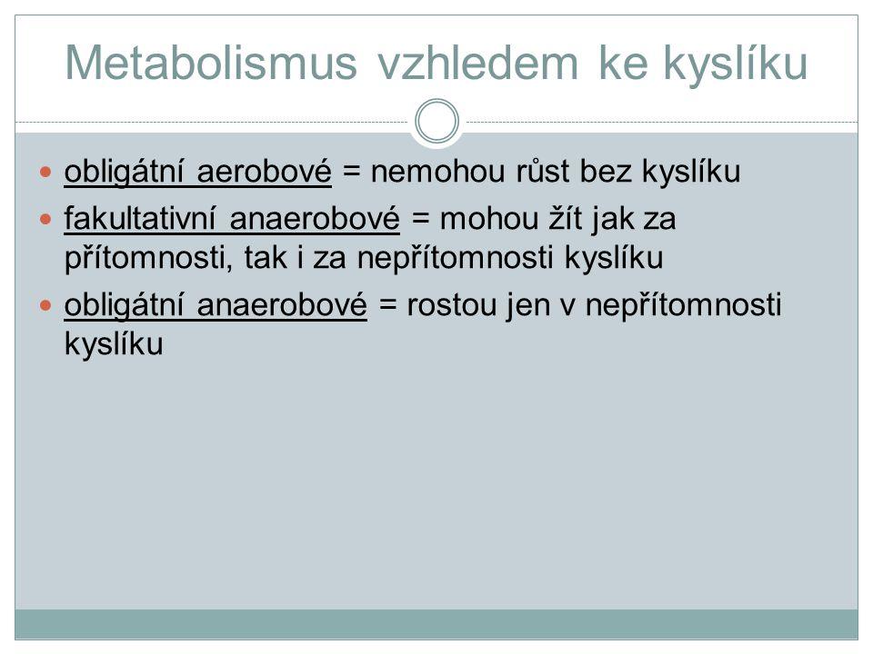Metabolismus vzhledem ke kyslíku