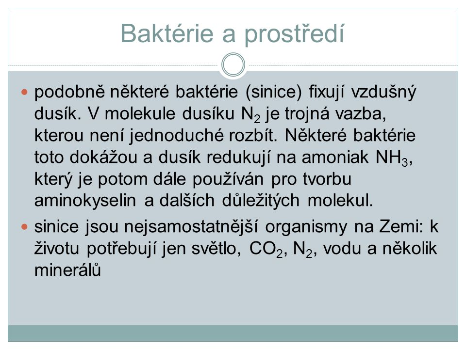 Baktérie a prostředí