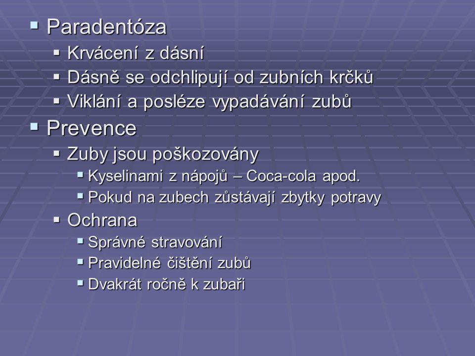 Paradentóza Prevence Krvácení z dásní