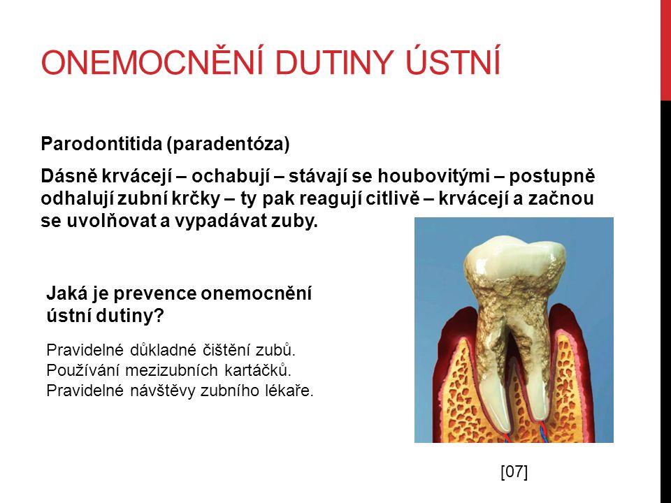 Onemocnění dutiny ústní