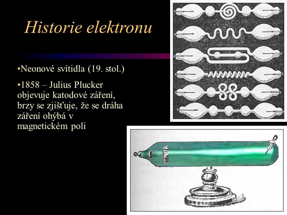 Historie elektronu Neonové svítidla (19. stol.)