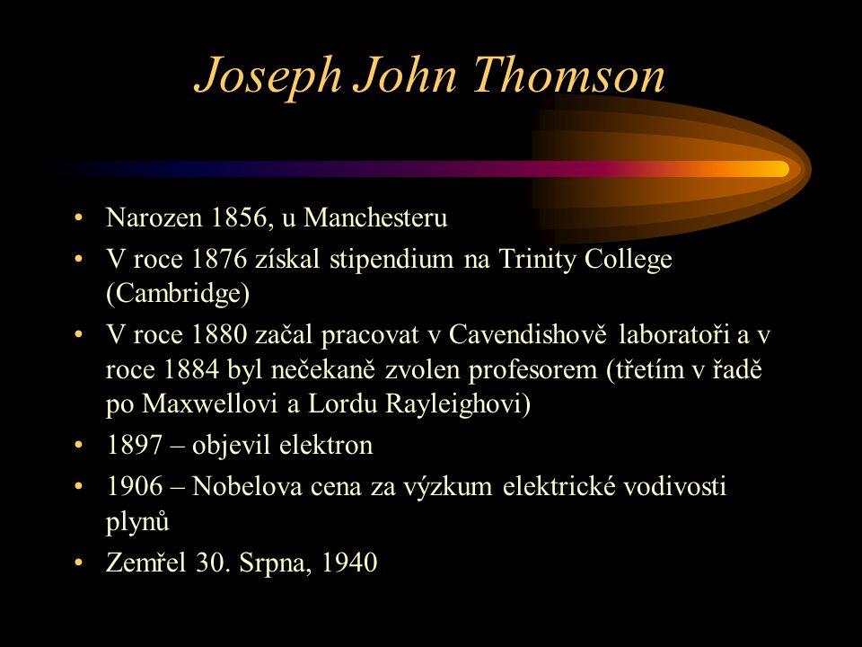 Joseph John Thomson Narozen 1856, u Manchesteru