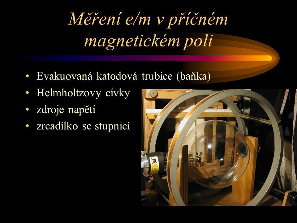 Měření e/m v příčném magnetickém poli