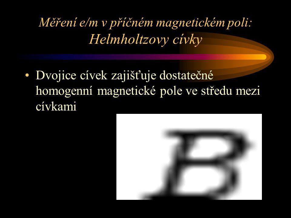 Měření e/m v příčném magnetickém poli: Helmholtzovy cívky
