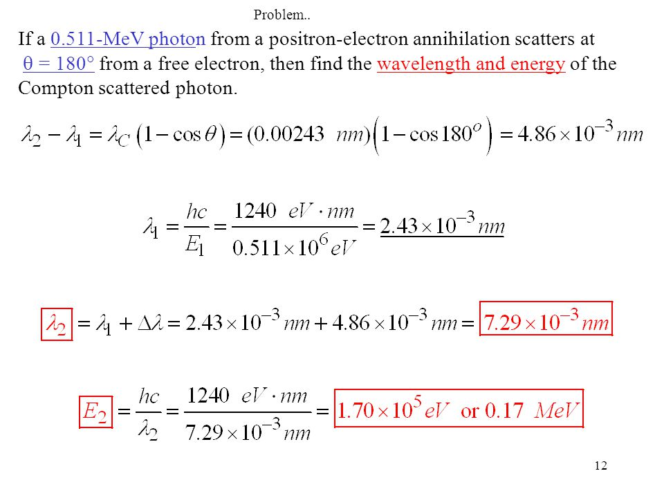 Problem.. If a 0.511-MeV photon from a positron-electron annihilation scatters at.