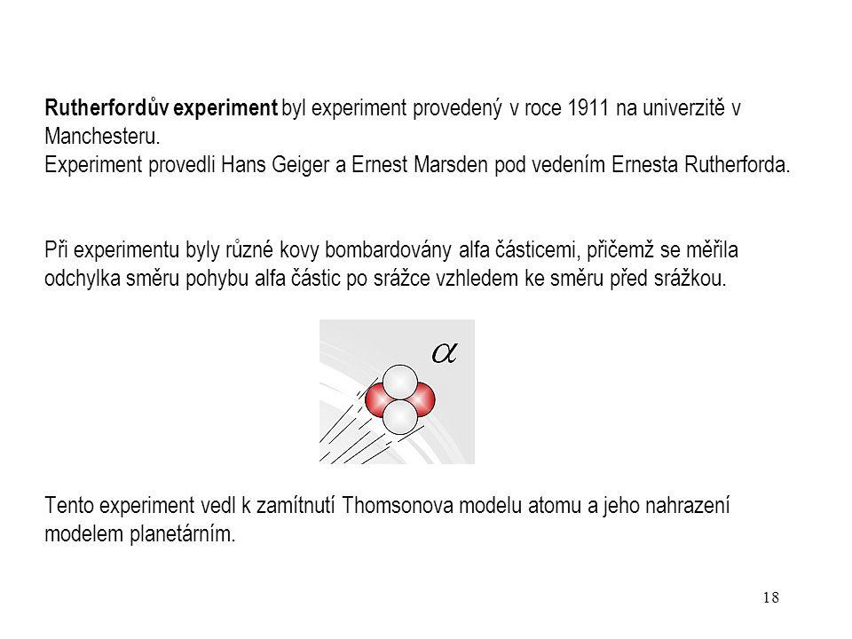 Rutherfordův experiment byl experiment provedený v roce 1911 na univerzitě v Manchesteru.