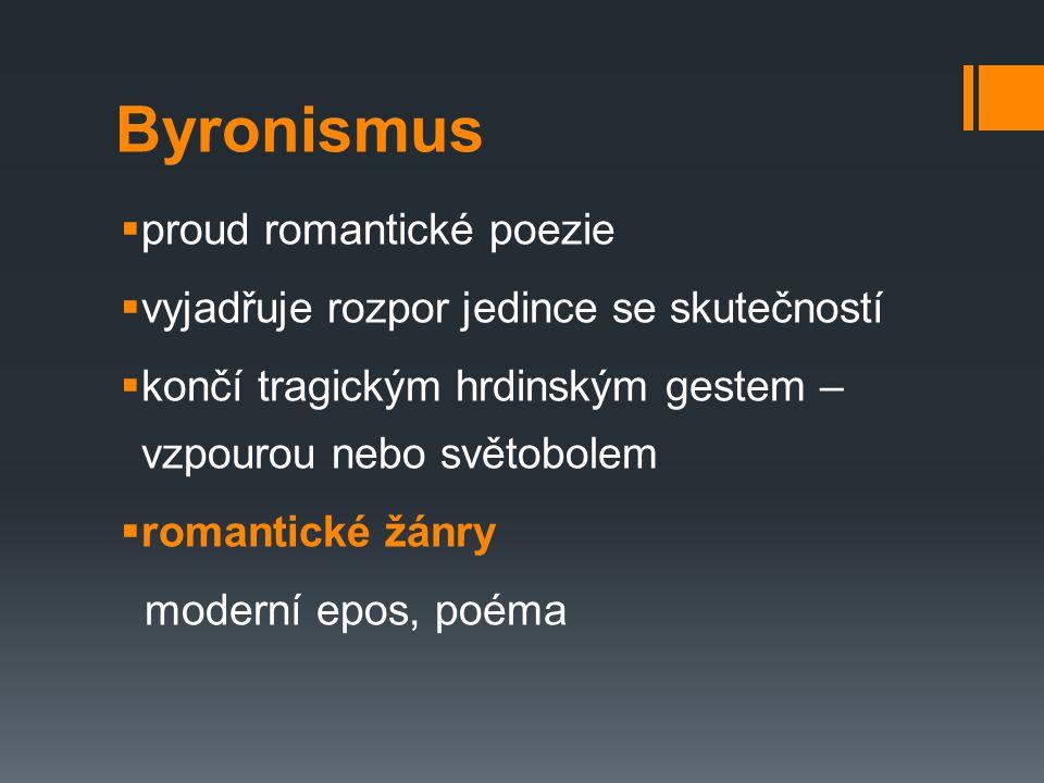 Byronismus proud romantické poezie