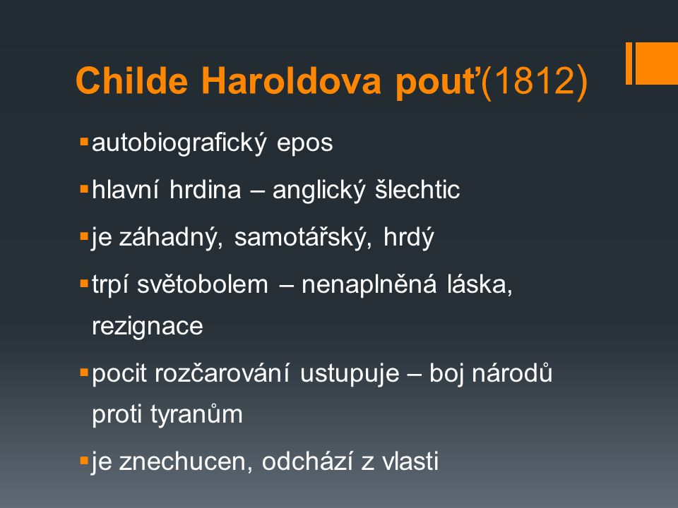 Childe Haroldova pouť(1812)