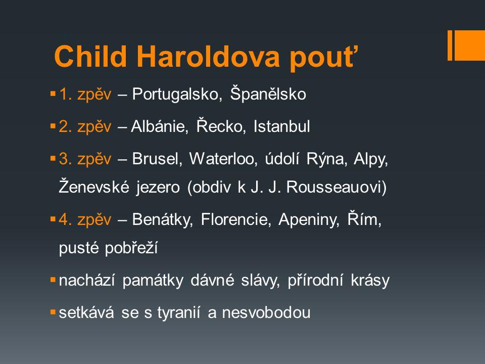 Child Haroldova pouť 1. zpěv – Portugalsko, Španělsko