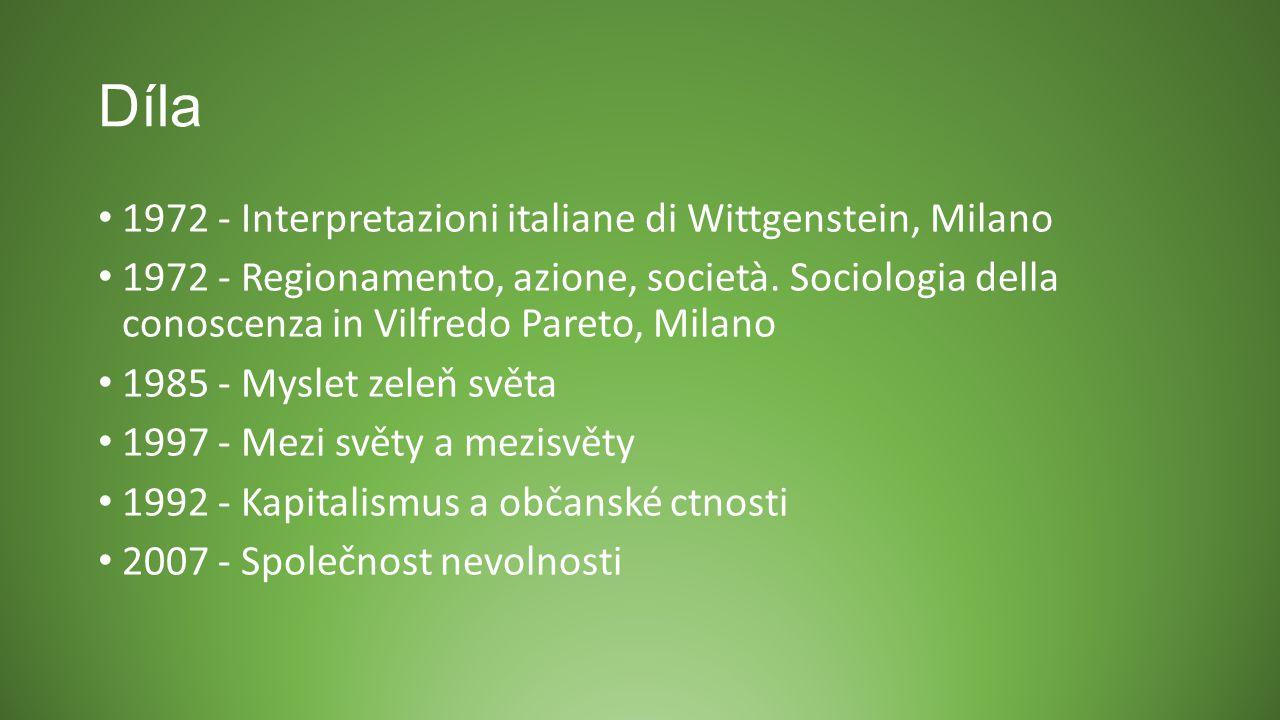 Díla 1972 - Interpretazioni italiane di Wittgenstein, Milano