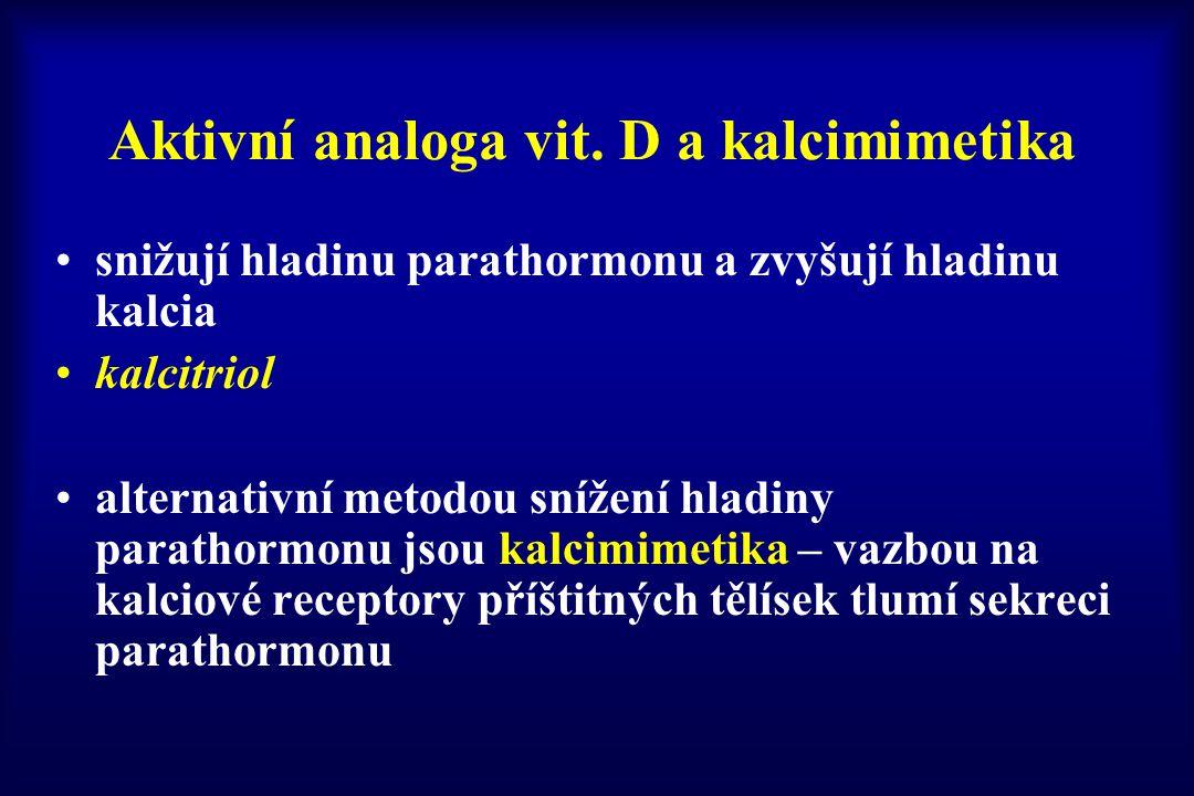 Aktivní analoga vit. D a kalcimimetika