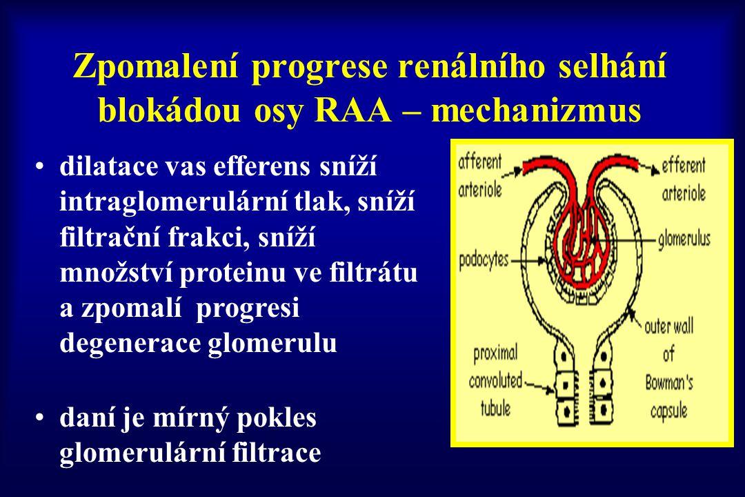 Zpomalení progrese renálního selhání blokádou osy RAA – mechanizmus