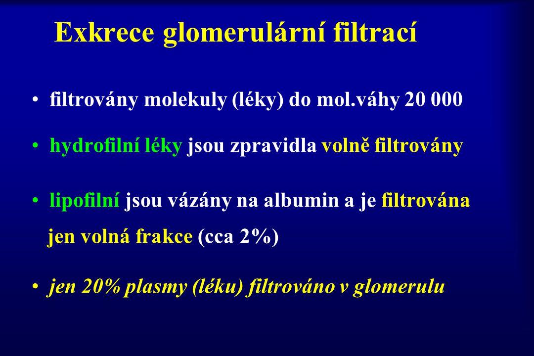 Exkrece glomerulární filtrací