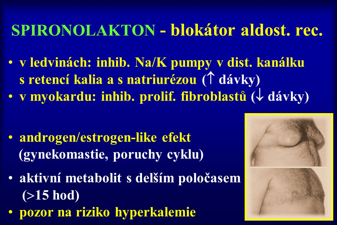 SPIRONOLAKTON - blokátor aldost. rec.
