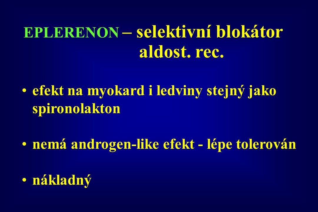 EPLERENON – selektivní blokátor aldost. rec.