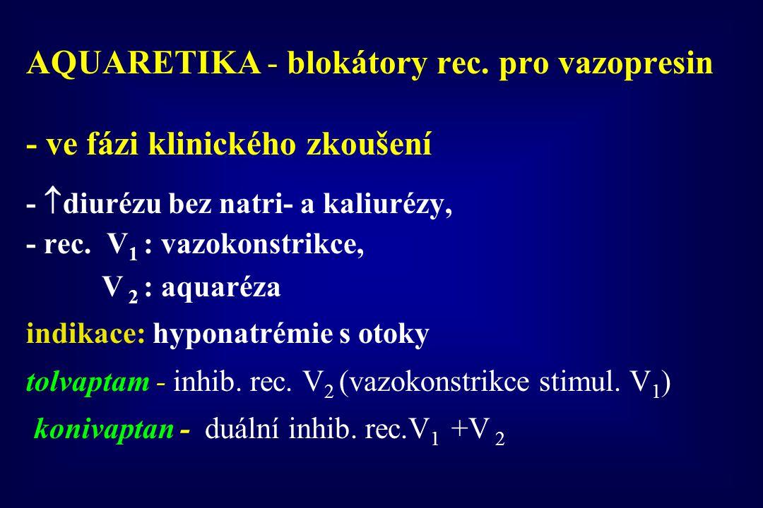 AQUARETIKA - blokátory rec. pro vazopresin