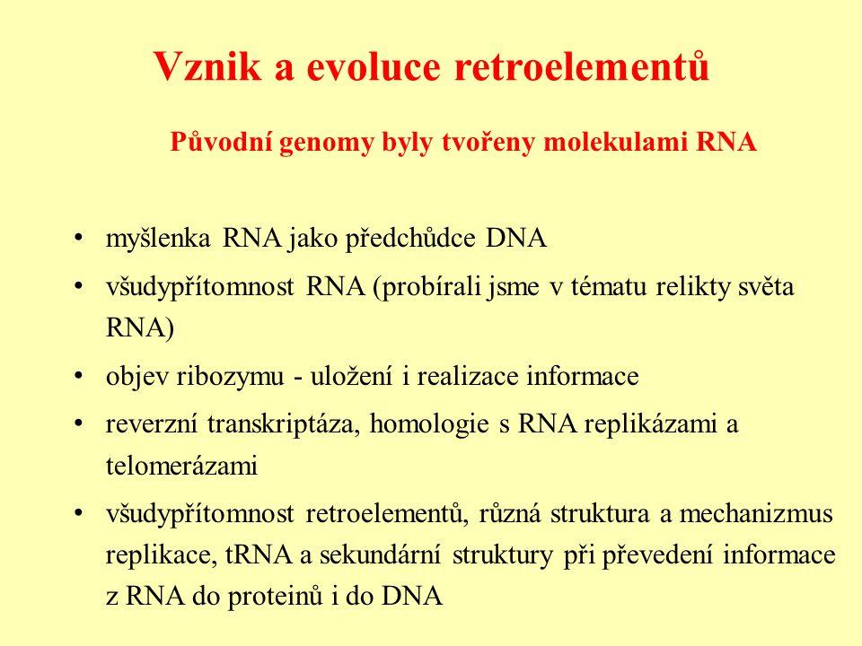 Vznik a evoluce retroelementů