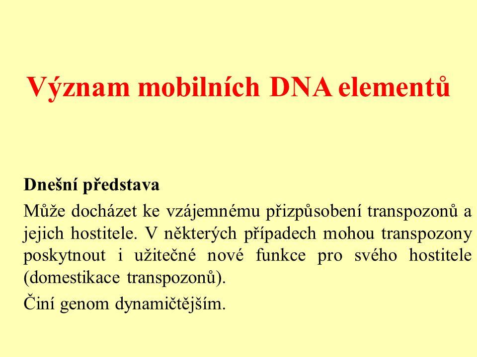 Význam mobilních DNA elementů