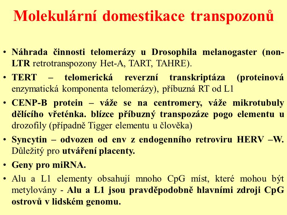 Molekulární domestikace transpozonů