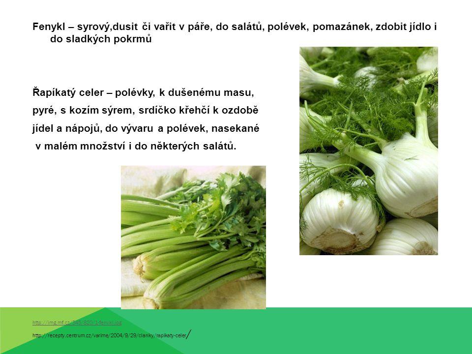Řapíkatý celer – polévky, k dušenému masu,